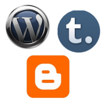 Logos for Wordpress, Blogger and Tumblr