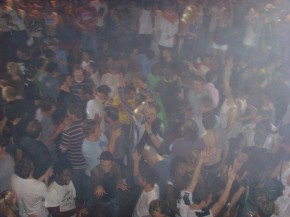 Clubbers in Fabric nightclub